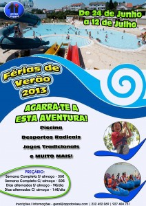 cartaz férias de verão APPDA 2013